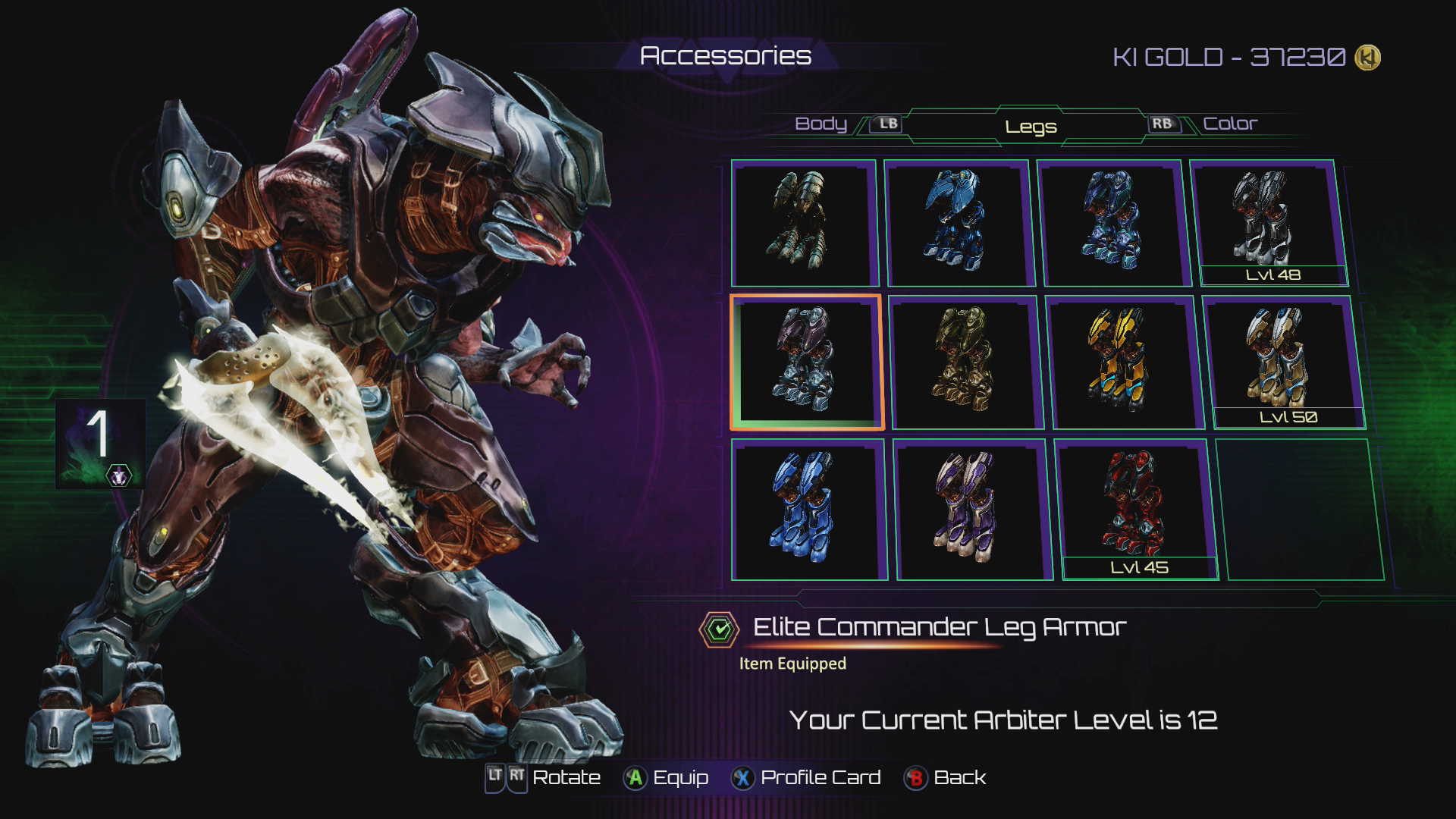 Killer Instinct | Arbiter's Colors & Accessories