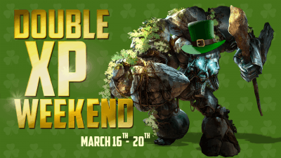 Double XP Weekend – March 16th-20th