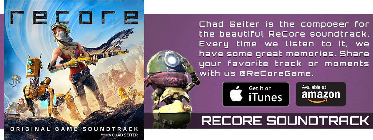 Chad Seiter is the composer for the beautiful ReCore soundtrack. Every time we listen to it, we have some great memories.